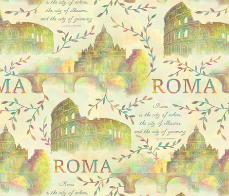 Romewatercolor fabric by gaiamarfurt on Spoonflower - custom fabric