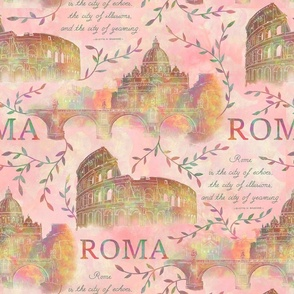 Romewatercolor-pink