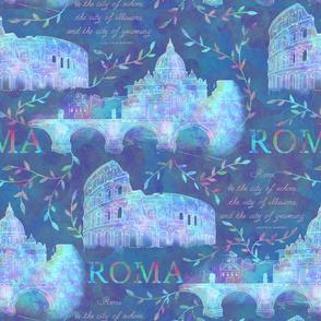 Romewatercolor-darkblue