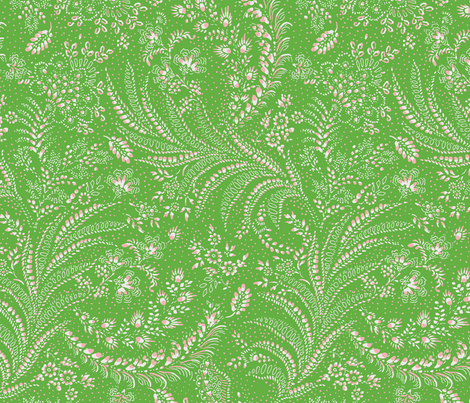 fern floral botanical organic green fabric by paisleypower on Spoonflower - custom fabric