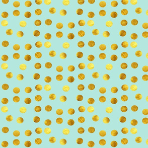 Gold dots blue