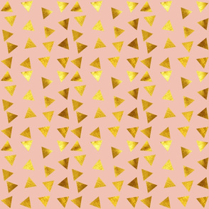 Gold Triangle pink