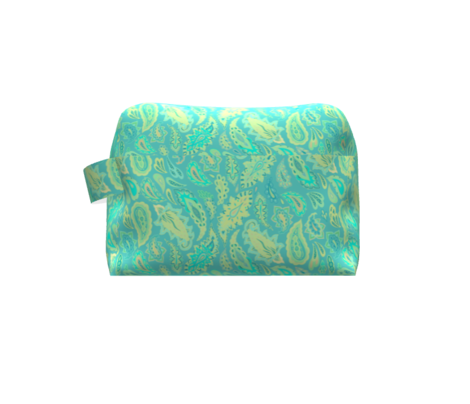 Turquoise paisley pattern