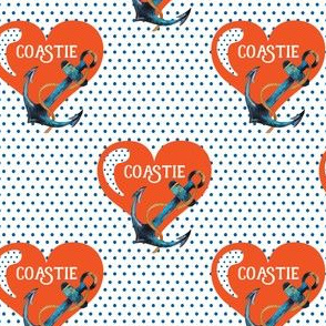 "4"" Coastie Heart with Polka"
