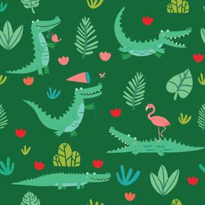 Chillout crocodile_greenery