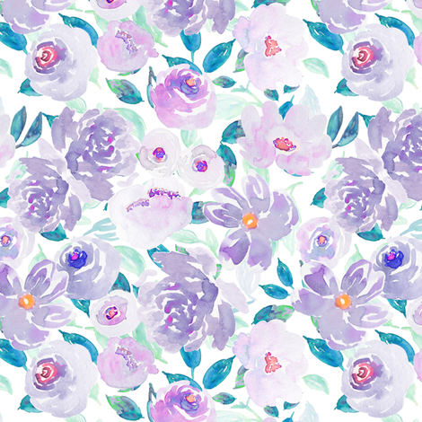 Indy Bloom Plumsy B fabric by indybloomdesign on Spoonflower - custom fabric