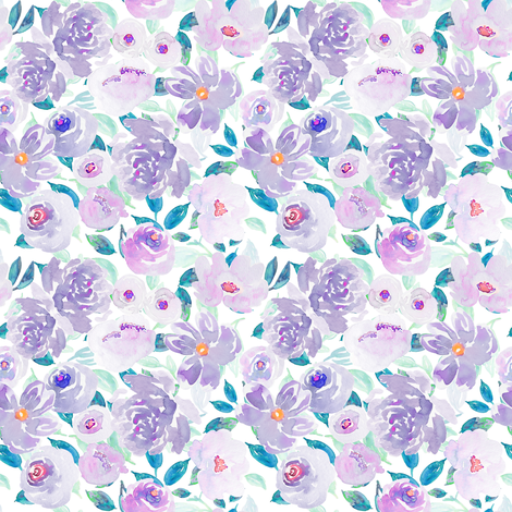 Indy Bloom Plumsy A fabric by indybloomdesign on Spoonflower - custom fabric