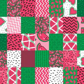 Watermelon Cheater Quilt