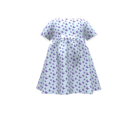 Small butterflies, purple on light blue || shirt, night gown t shirt sleeves dress