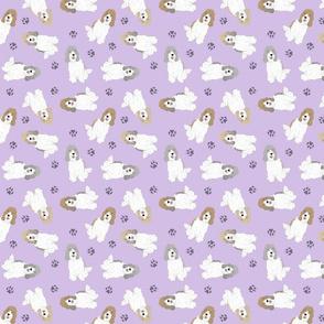 Tiny Petit Basset Griffon Vendeen - purple