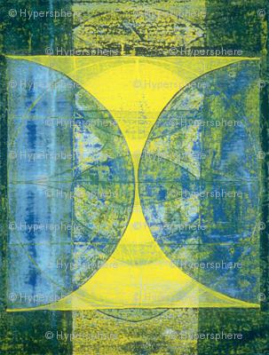 blue green gold hourglass