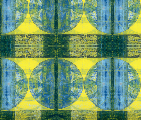 blue green gold hourglass fabric by hypersphere on Spoonflower - custom fabric
