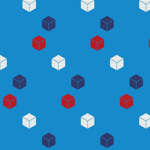 Red, White and Blue blocks