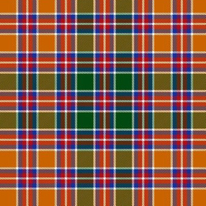 Jacobite tartan, modern orange 6""
