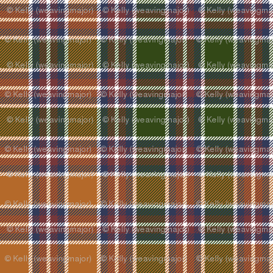 Jacobite tartan, antique orange 6""