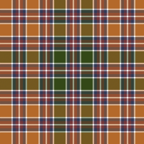 "Jacobite tartan, antique orange 6"" fabric by weavingmajor on Spoonflower - custom fabric"