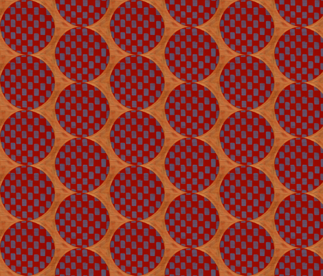 butterscotch w/red &blue fabric by hypersphere on Spoonflower - custom fabric