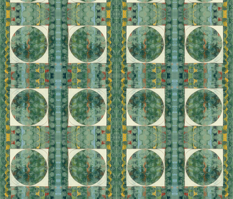 green domino fabric by hypersphere on Spoonflower - custom fabric