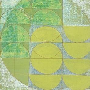 green half circles