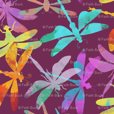 Dragonflies (plum)