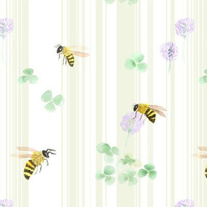 Bees, Clovers, and Stripes