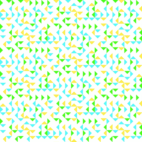 Triangles bright on white fabric by bjdk on Spoonflower - custom fabric