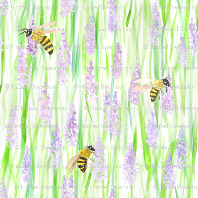 Honey Bees and Lavender