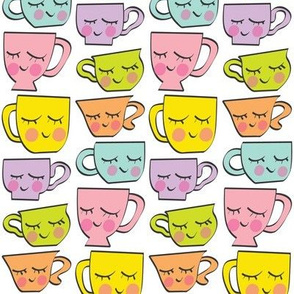 assorted teacups-with-faces