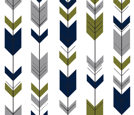custom colored fletching arrows  fabric by littlearrowdesign on Spoonflower - custom fabric