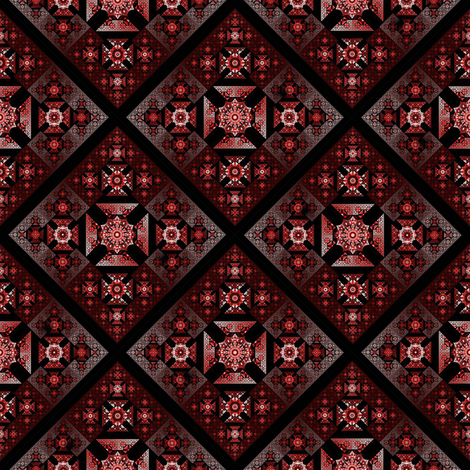 Antoine Nehme Red Frost Diagional fabric by stradling_designs on Spoonflower - custom fabric