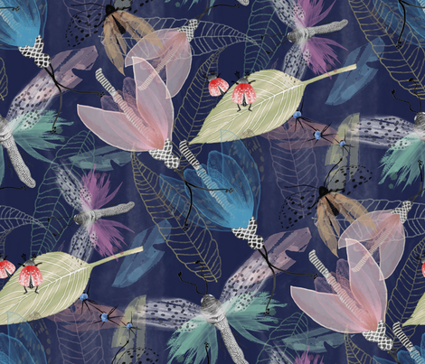 Insecta_Nocturnus fabric by j9design on Spoonflower - custom fabric