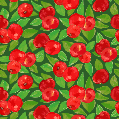 Apples_on_Green fabric by samantha_w on Spoonflower - custom fabric