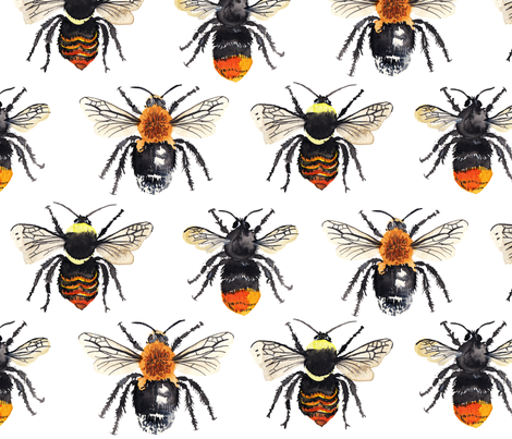 Bumble Bee Grid fabric by aimeelouiseillustration on Spoonflower - custom fabric