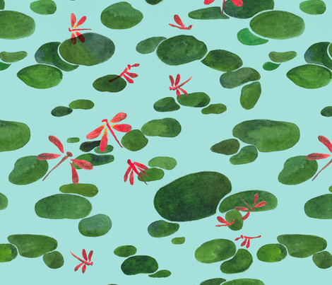 dragonflies fabric by momshoo on Spoonflower - custom fabric
