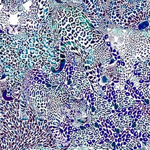Leopard Spots in Blue and Violet LARGE