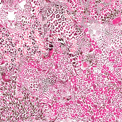 Leopard Spots in Magenta LARGE fabric by rubydoor on Spoonflower - custom fabric