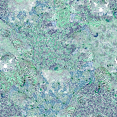 Leopard Spots in Blue and Green SMALL