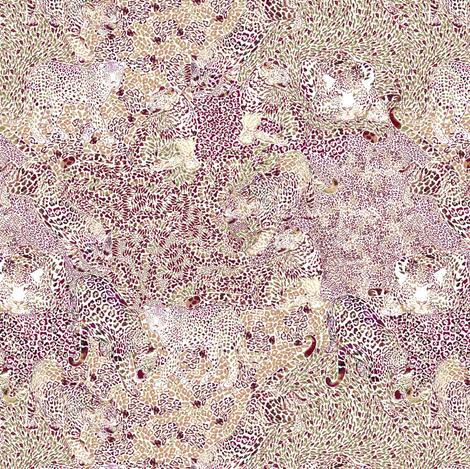 Leopard Spots in Earthtones SMALL fabric by rubydoor on Spoonflower - custom fabric