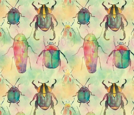 walk like an egyptian beetle fabric by natalia_gonzalez on Spoonflower - custom fabric
