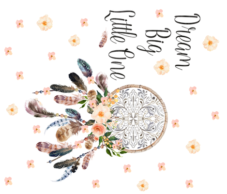 """42""""x36"""" Dream Big Little One Dream Catcher / 90 Degrees / MORE FLORALS fabric by shopcabin on Spoonflower - custom fabric"""