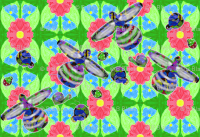 Insects_on_watercolour_floral