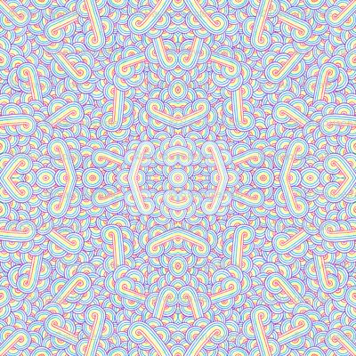 Rainbow and white swirls doodles
