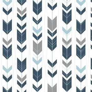 Arrows // slate, grey and glacier water