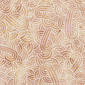Iced coffee and white swirls doodles