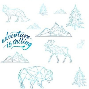 "8"" ADVENTURE IS CALLING / WOODLAND FRIENDS / BLUE"
