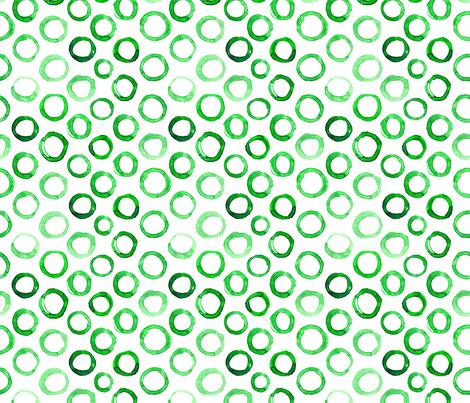 Watercolor green circles fabric by katerinaizotova on Spoonflower - custom fabric