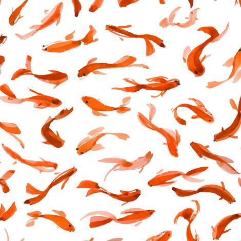 Koi fishes fabric by tasiania on Spoonflower - custom fabric