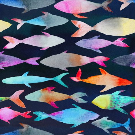 Fishes fabric by tasiania on Spoonflower - custom fabric