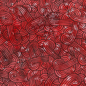 Red and black swirls doodles