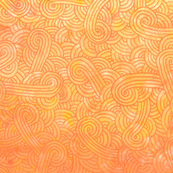Yellow and orange swirls doodles